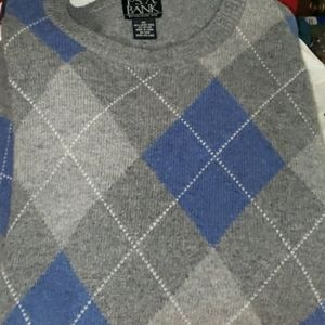 Jos. A. Bank Sweater XL blue and grey